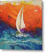 Peace Below The Surface Metal Print