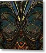 Peace Butterfly Fx Metal Print