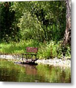 Peace By The River Metal Print
