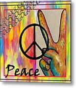 Peace In Every Color Metal Print