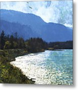 Peace In The Valley - Landscape Art Metal Print