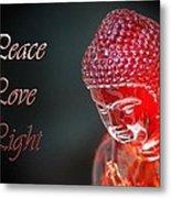 Peace Love Light Metal Print