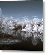Peace River North Near Infrared Arcadia Florida Usa Metal Print