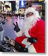 Peace Santa Metal Print