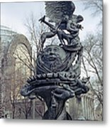 Peace Sculpture In New York Metal Print