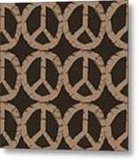 Peace Symbol Collage Metal Print