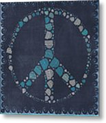 Peace Symbol Design - Btq19at2 Metal Print by Variance Collections