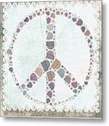 Peace Symbol Design - S76at02 Metal Print
