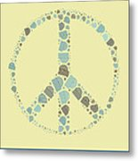 Peace Symbol Design - Y87d Metal Print by Variance Collections