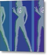 Peace Woman Repeat Metal Print