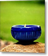 Peaceful Blue  Metal Print