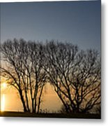 Peaceful Blues And Golds  Metal Print