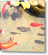 Peaceful Day In The Pond Metal Print