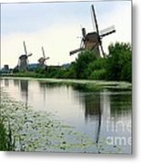 Peaceful Dutch Canal Metal Print by Carol Groenen