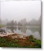 Peaceful Foggy Morning Marr Park Metal Print