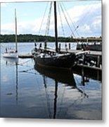 Peaceful Harbor Scene - Ct Metal Print