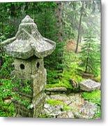 Peaceful Japanese Garden On Mount Desert Island Metal Print