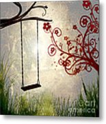 Peaceful Morning Glow Metal Print
