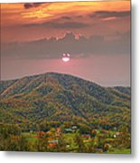 Peaceful Mountain Community Metal Print