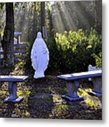 Peaceful Place To Pray With Mary Metal Print