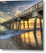 Peaceful Surf Metal Print