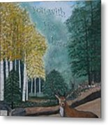 Peaceful Walk Metal Print
