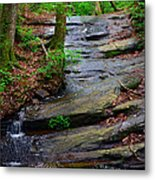 Peaceful Waterfall Metal Print