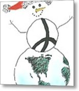 Peacemaker Snowman Metal Print