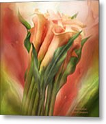 Peach Callas Metal Print