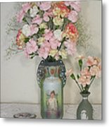 Peach Flowers And Others Metal Print by Good Taste Art