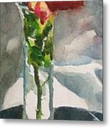 Rose In The Clear Metal Print