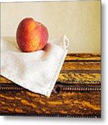 Peach Still Life Metal Print