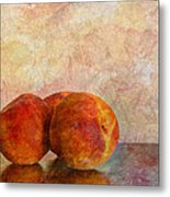 Peach Trio  Metal Print