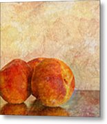 Peach Trio II Metal Print