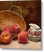 Peaches And Cream Still Life II Metal Print