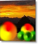 Peaches And Limes On A Colorado Mountain Top Metal Print