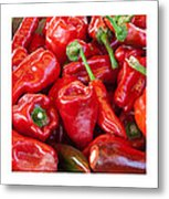 Peaches Peppers Peppers - Landscape Metal Print