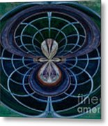 Peacock Feather Abstract Metal Print