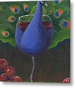 Peacock Pinot Metal Print by Debbie McCulley
