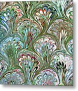 Peacock Shell Pattern Abstract Metal Print