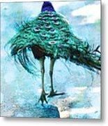 Peacock Walking Away Metal Print