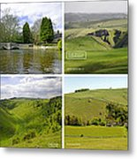 Peak District Collage 01-labelled Metal Print