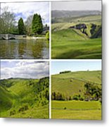 Peak District Collage 01-plain Metal Print