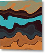 Peaks And Valleys 3 Metal Print