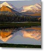 6m6530-a-peaks Reflected Touolumne Meadows  Metal Print