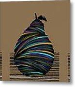 Pear 2003 Tan Metal Print