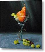 Pear Martini Metal Print