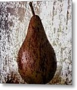 Pear On The Rocks Metal Print