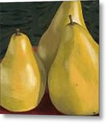 Pear Trio 1  Metal Print