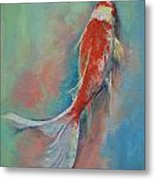 Pearl Banded Koi Metal Print by Michael Creese